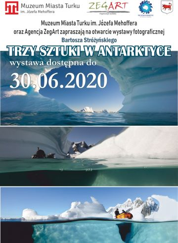 Trzy sztuki w Antarktyce