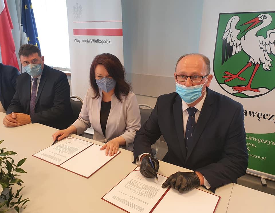 Urząd Wojewódzki dofinansuje budowę Gminnego Żłobka w Kawęczynie - fot. WUW Poznań