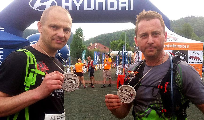 Biegacze z KB Maraton na piekielnie trudnym Biegu Rzeźnika w Bieszczadach - fot. archiwum prywatne