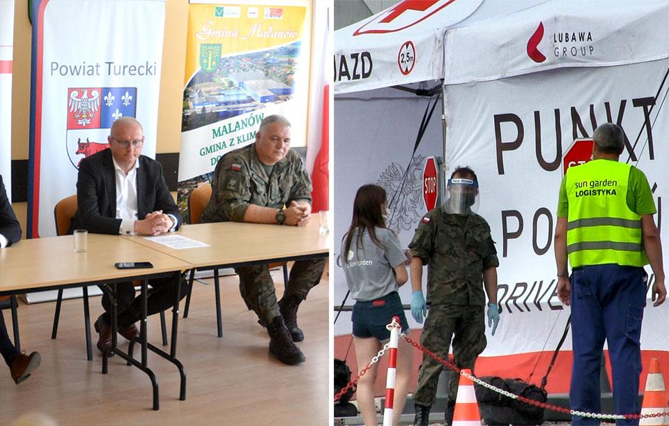 Wideo: Konferencja władz województwa i powiatu w sprawie ogniska koronawirusa w Sun Garden