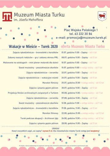 Wakacje w Mieście - Oferta Muzeum