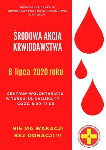 Nie ma wakacji bez donacji czyli kolejna akcja poboru krwi już w środę 8 lipca