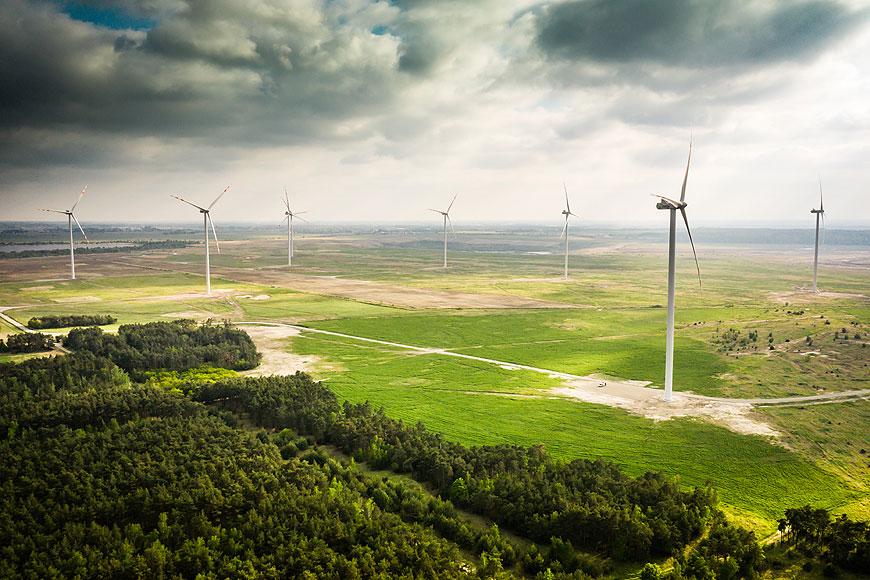 Farma Wiatrowa w Przykonie oficjalnie oddana do użytku - fot. Grupa ENERGA