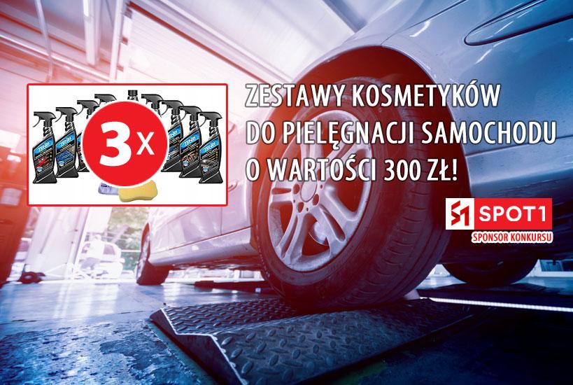 KONKURS: 3 zestawy kosmetyków samochodowych od SPOT1 o wartości 300 zł każdy!