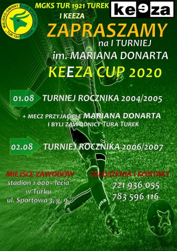 I Turniej im. Mariana Donarta - Keeza Cup 2020 już w sierpniu