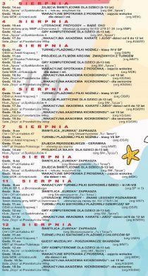 Wakacje w mieście Turek 2020 - sierpień