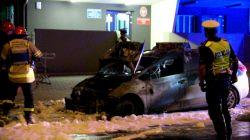 Miasto Turek: Umyślne podpalenie przyczyną pożaru radiowozu pod komendą policji....