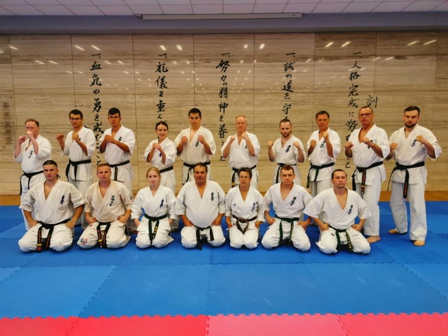 Zawodnicy Klubu Sportów i Sztuk Walk na Międzynarodowym Obozie Karate