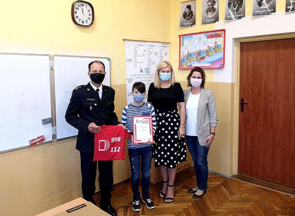 Uczeń z Kowali Pańskich nagrodzony w konkursie PSP