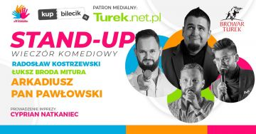 Wieczór komediowy stand-up w Turku - Arkadiusz Pan Pawłowski i Radosław Kostrzewski