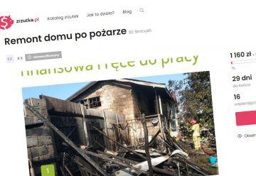 Rusza zbiórka dla pogorzelców z Zadwornej....