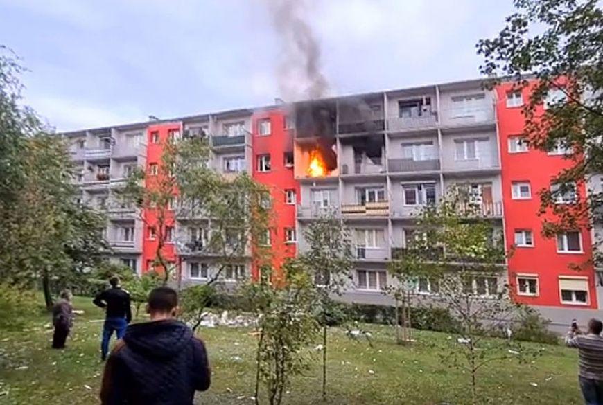 Wideo: Wybuch butli z gazem na Wyszyńskiego. Trzy osoby poszkodowane. - fot. nadesłane przez Czytelnika