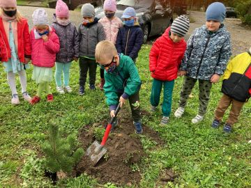 Dzień Drzewa w Przedszkolu w Brudzewie