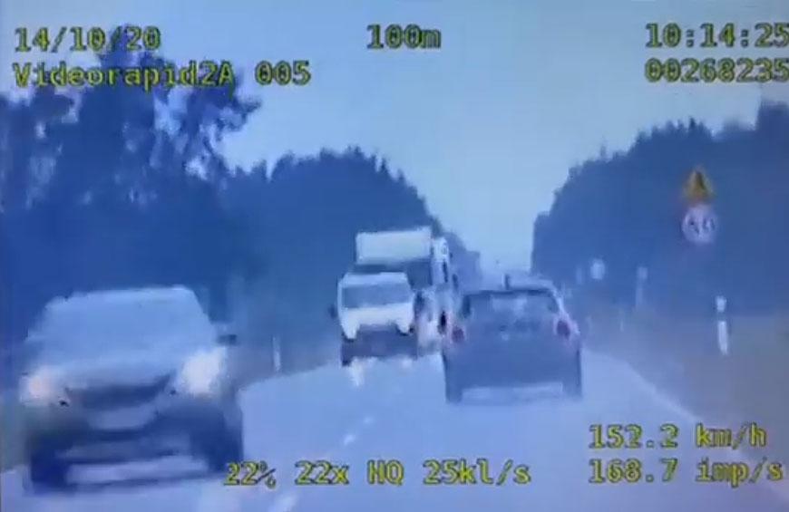 Wideo: Na liczniku 160 km/h. Kierująca Mini Cooperem zatrzymana w Feliksowie