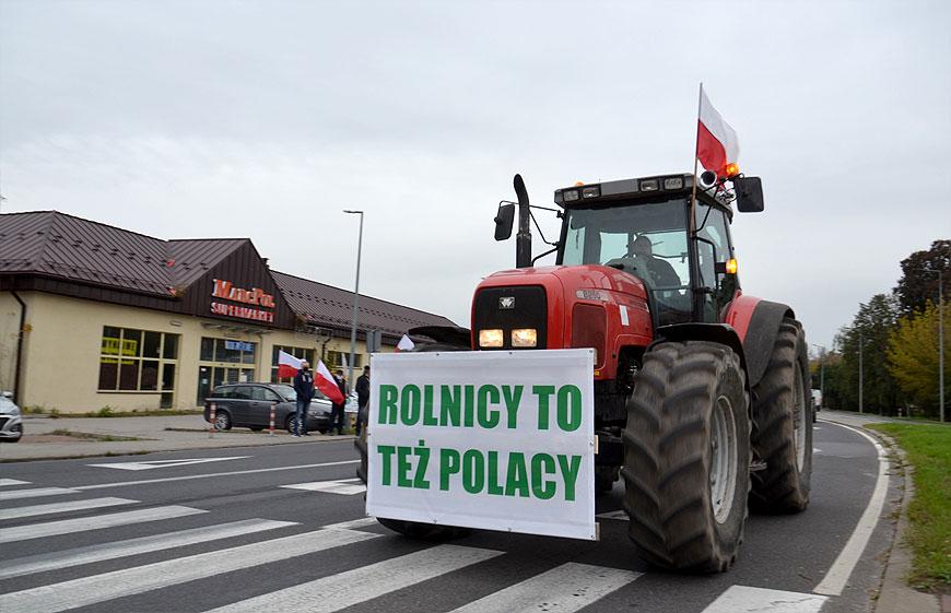 Rolnicy z powiatu ponownie w proteście wyjechali na drogi