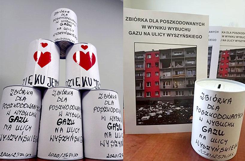 Kolejna zbiórka dla poszkodowanych po wybuchu gazu na Wyszyńskiego