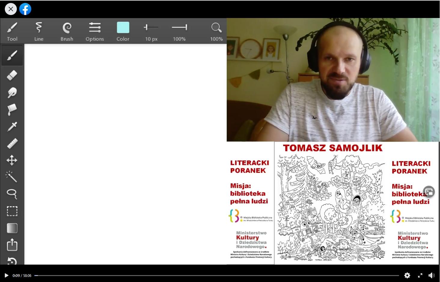 Wirtualne spotkanie z Tomaszem Samojlikiem