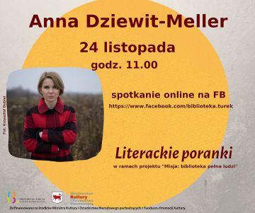 Literacki poranek z Anną Dziewit-Meller