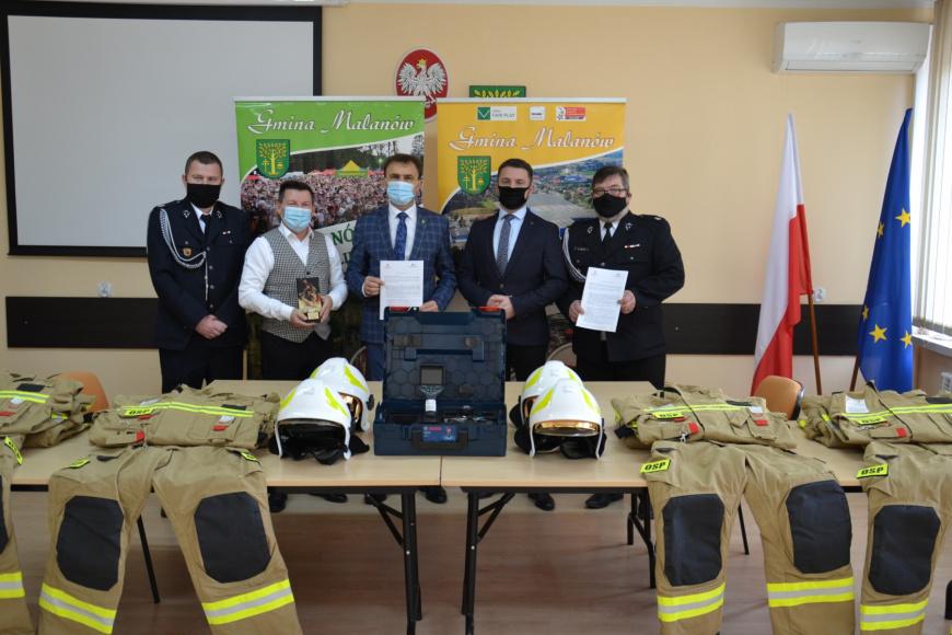 Nowy sprzęt dla strażaków ochotników z Malanowa
