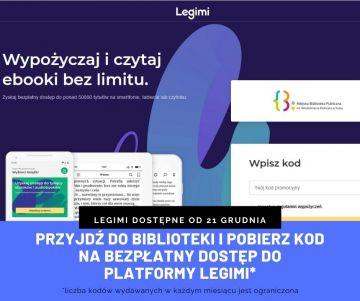 Bezpłatny dostęp do Legimi dla czytelników turkowskiej Biblioteki