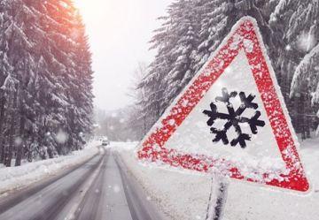 Intensywne opady śniegu w powiecie tureckim....