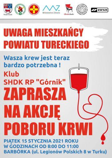 Styczniowy pobór krwi z Klubem SHDK RP Górnik