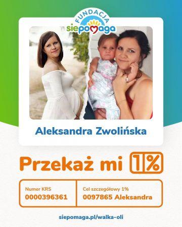 1% lokalnie: Ola Zwolińska liczy na Nasze wsparcie