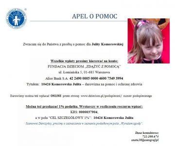 1% lokalnie - Julita Komorowska - pomóż jej samodzielnie żyć