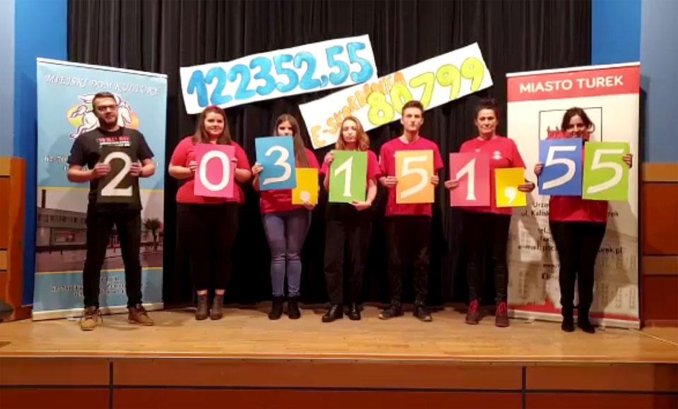 Sukces tegorocznej zbiórki! 29 Finał WOŚP w Turku przebił 200 tys. zł!
