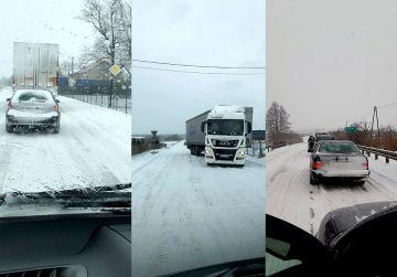 Wideo: Trudne warunki na drogach powiatu....