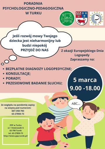 Europejski Dzień Logopedy w Turku. Przyjdź na bezpłatne diagnozy logopedyczne