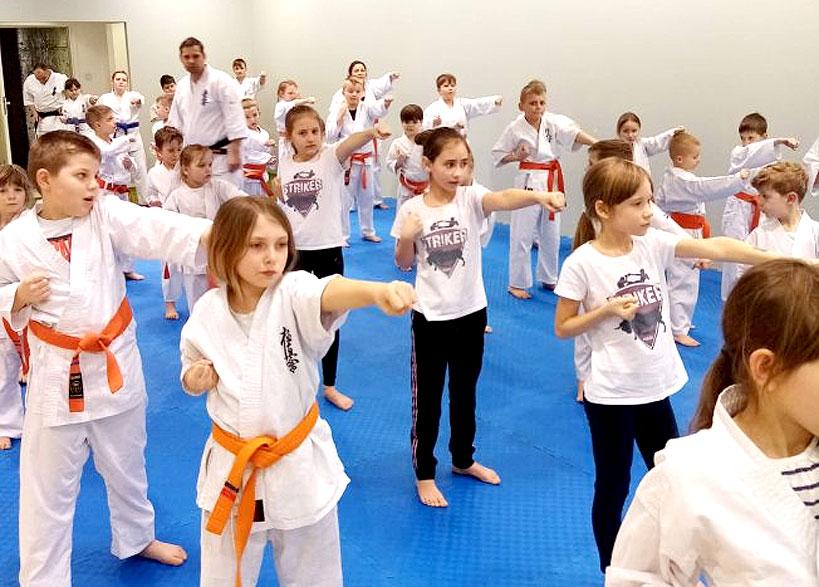 Noworoczny egzamin Karate dla zawodników Striker Turek