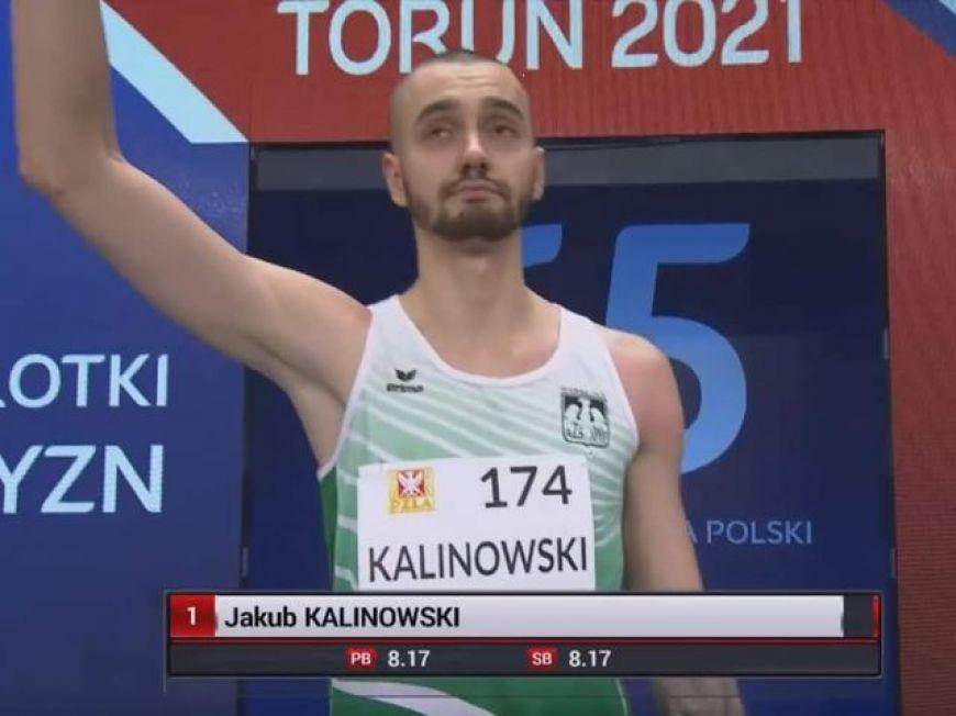 Brąz dla Jakuba Kalinowskiego w Halowych Mistrzostwach Polski!