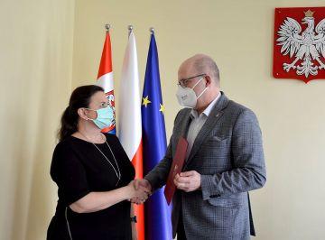 Akcja szczepień w DPS Skęczniew doceniona przez Starostę Tureckiego