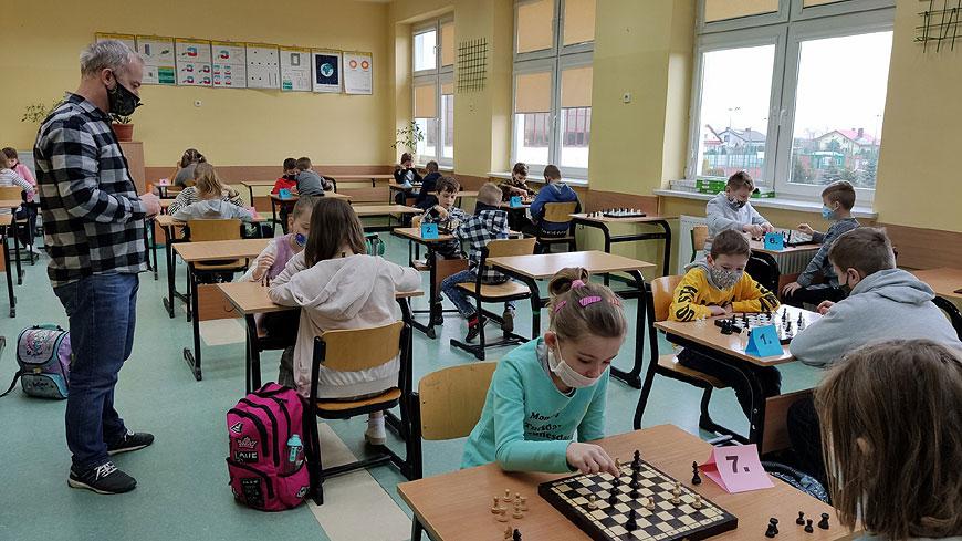 Mistrzostwa Szkoły Podstawowej w Przykonie w warcabach
