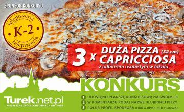 Wiosenny konkurs z Pizzerią K2. Do zdobycia 3 duże Capricciosy