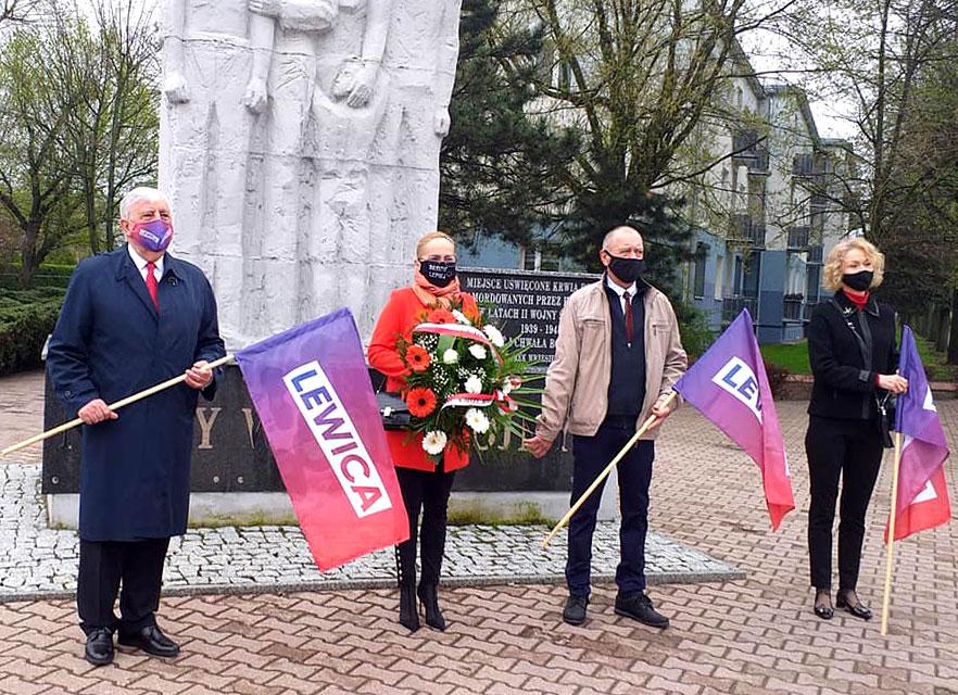 Symbolicznie uczcili pierwszomajowe Święto Pracy. Hasła lewicy nadal aktualne.