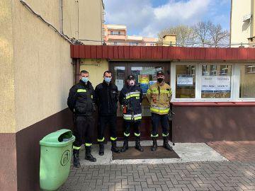 Strażacy wspierają Punkt Szczepień Powszechnych...