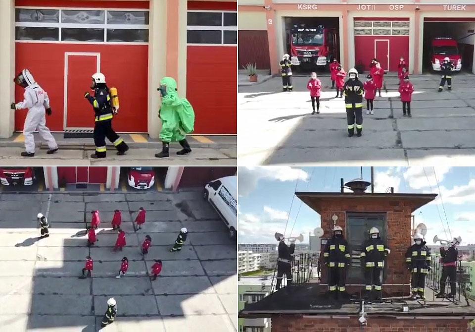 Wideo: Dzieci i Młodzież z OSP Turek tańczą dla Magdy. Turkowianka potrzebuje wsparcia po poważnym wypadku.