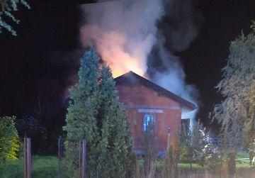 Pożar budynku mieszkalnego na ul. Leśnej w...