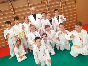 Olimpijczyk Marian Tałaj z wizytą w UKS Judo...