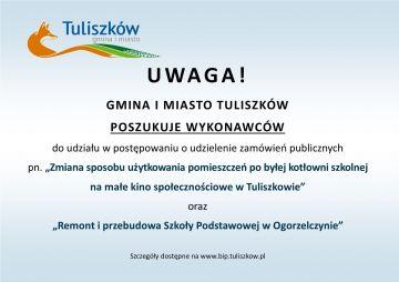 Uwaga przetargi w gminie Tuliszków.