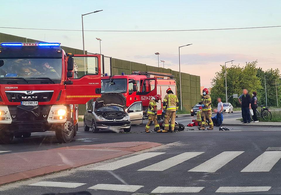 Potrącenie pieszej i wymuszenie pierwszeństwa. Dwa niebezpieczne zdarzenia na drogach Turku - fot. nadesłane przez Czytelnika