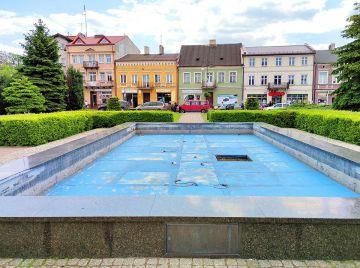 Miejska fontanna nieczynna mimo braku zakazu