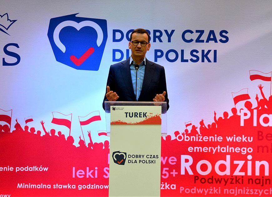 Premier Mateusz Morawiecki odwiedzi dziś Turek i Kowale Pańskie.