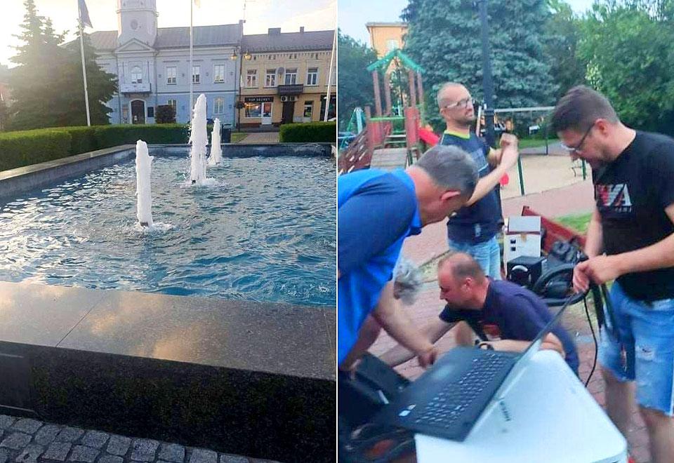 Miasto nadrabia zaległości. Działa fontanna a w sobotę Turkowska Strefa Kibica