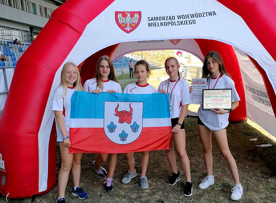 Dziewczęta z ZSP Słodków tuż za podium na Mistrzostwach Wielkopolski w Czwórboju