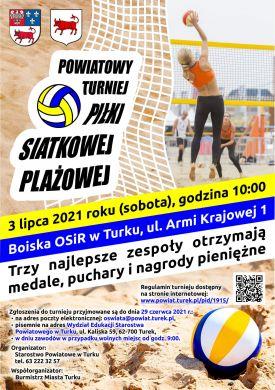 Powiatowy Turniej Piłki Siatkowej Plażowej