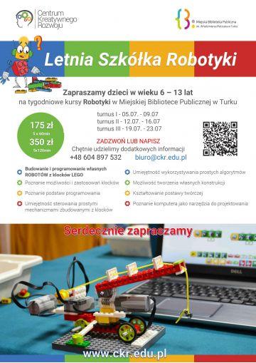 Letnia Szkółka Robotyki w bibliotece miejskiej