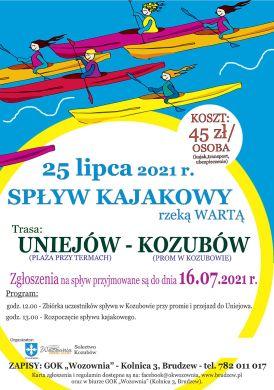 Spływ Kajakowy - Kozubów 2021